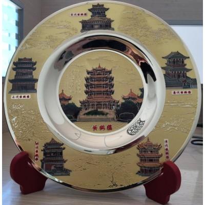 南昌不锈钢纪念盘制作铜制奖盘定做工厂