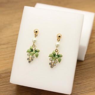 J新款耳钉水钻珍珠滴秞个性简约流行时尚耳饰☆C欧美流行饰品首饰