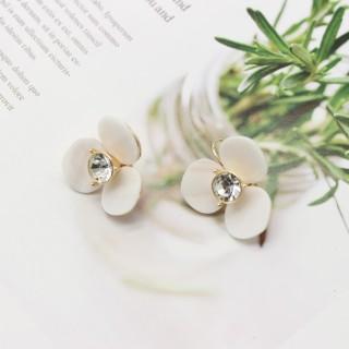 夸张几何花朵个性天然贝壳耳扣耳钉耳环J☆C欧美流行饰品首饰配饰