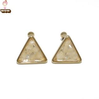 韩版外贸三角铜镶嵌亚克力耳夹无耳洞小清新百搭夏季