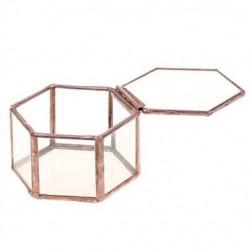 谁家有这样的工艺品盒子,周围全是玻璃的