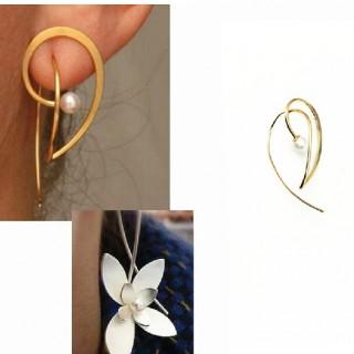 日韩特别定制饰品 个性创意 气质全铜珍珠 单耳 耳钉 耳环