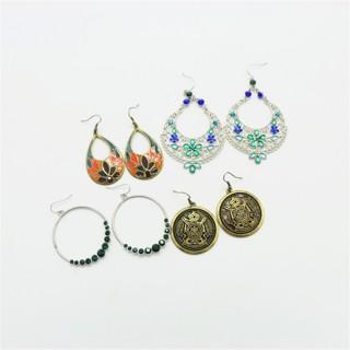 【促销优惠】多款多色随机发送宝石耳环女时尚韩版耳钉耳饰防过敏