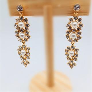 定制 欧美新款流行饰品时尚女耳钉镶嵌宝石