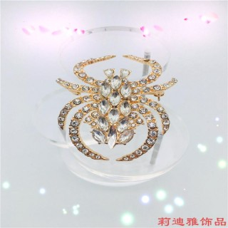定制 新款流行饰品时尚女胸针镶嵌宝石