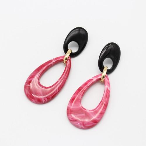 J☆C欧美流行饰品首饰新款夸张几何耳环个性多层简约流行时尚耳饰