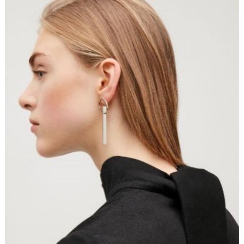 Secret Woman cos几何简洁不规则耳钉 耳环