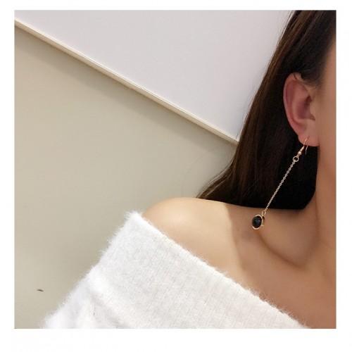 Secret Woman欧美日韩饰品几何不规则个性流苏时尚甜美耳环耳钉