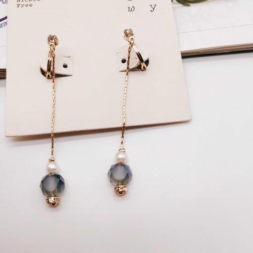 原创设计 时尚百搭简约日韩流行长款耳环原创设计