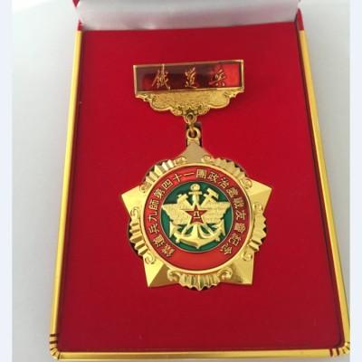 昆明合金勋章订做 纪念奖章制作 黄铜勋章制作厂家