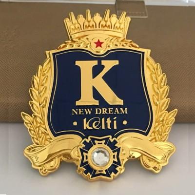 海口锌合金车标定制车队车标制作车友会logo标志厂家