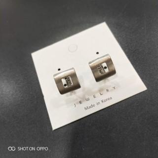 韩版丝迹款耳饰两款单色无耳洞螺丝耳夹