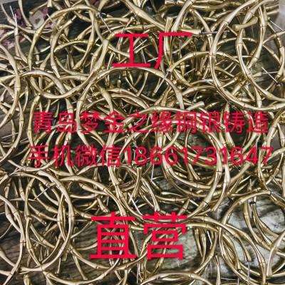 竹节耳圈系列梦金之缘银铜铸造