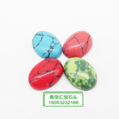 常规半片天然石配件8色可选