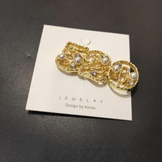 珍珠款气质数字字母环保发夹