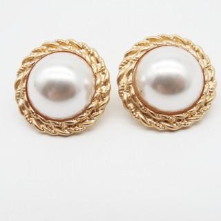 925银针系列半圆珍珠耳钉