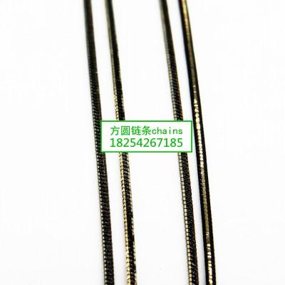 方圆蛇链黑批链条系列jewelrys chains
