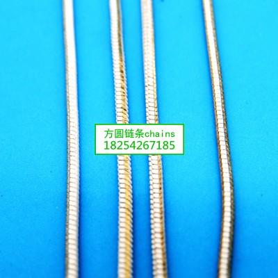 方圆方蛇白批链条jewelrys chains