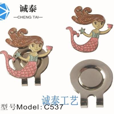 人鱼磁铁帽夹,铁材料帽夹制作,找定制帽夹