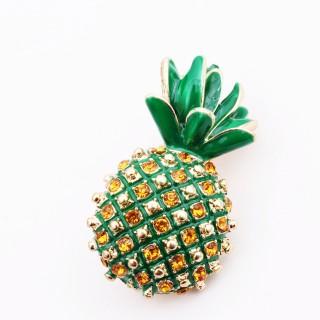 菠萝蜜珐琅胸针
