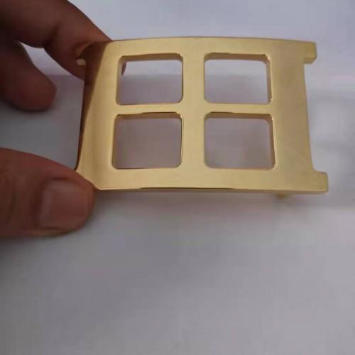 不锈钢皮带扣定制铜质镀金皮带头订做厂家