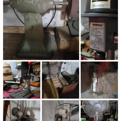 现有抛光机,,抛光皂,台钻,吊机,,案子,